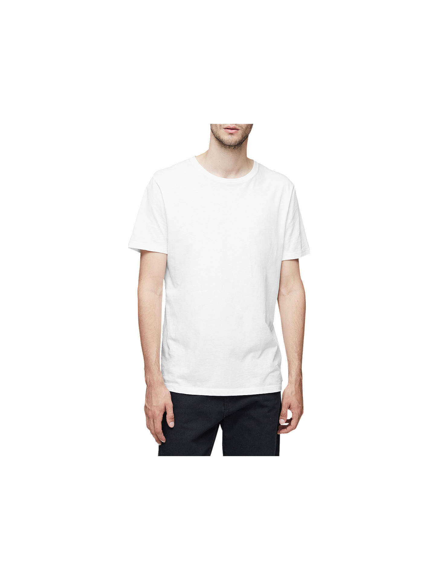 BuyReiss Bless Cotton Crew Neck T-Shirt, White, S Online at johnlewis.com