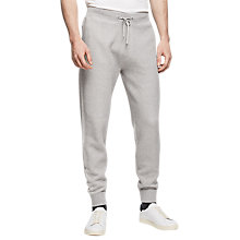 Buy Reiss Robinson Textured Jersey Joggers, Grey Online at johnlewis.com