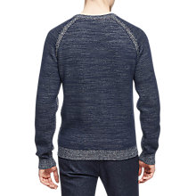 Buy Reiss Charlston Long Sleeve Jumper, Navy/Green Online at johnlewis.com