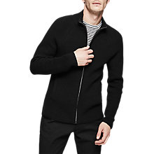 Buy Reiss Ludlow Zip Through Jumper, Black Online at johnlewis.com