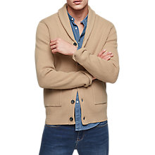 Buy Reiss Montreal Shawl Collar Cardigan, Oatmeal Online at johnlewis.com