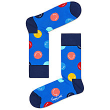 Buy Happy Socks Smile Socks, One Size, Blue/Multi Online at johnlewis.com