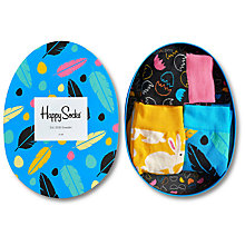 Buy Happy Socks Easter Socks Gift Box, Pack of 3, One Size, Black/Yellow/Blue Online at johnlewis.com