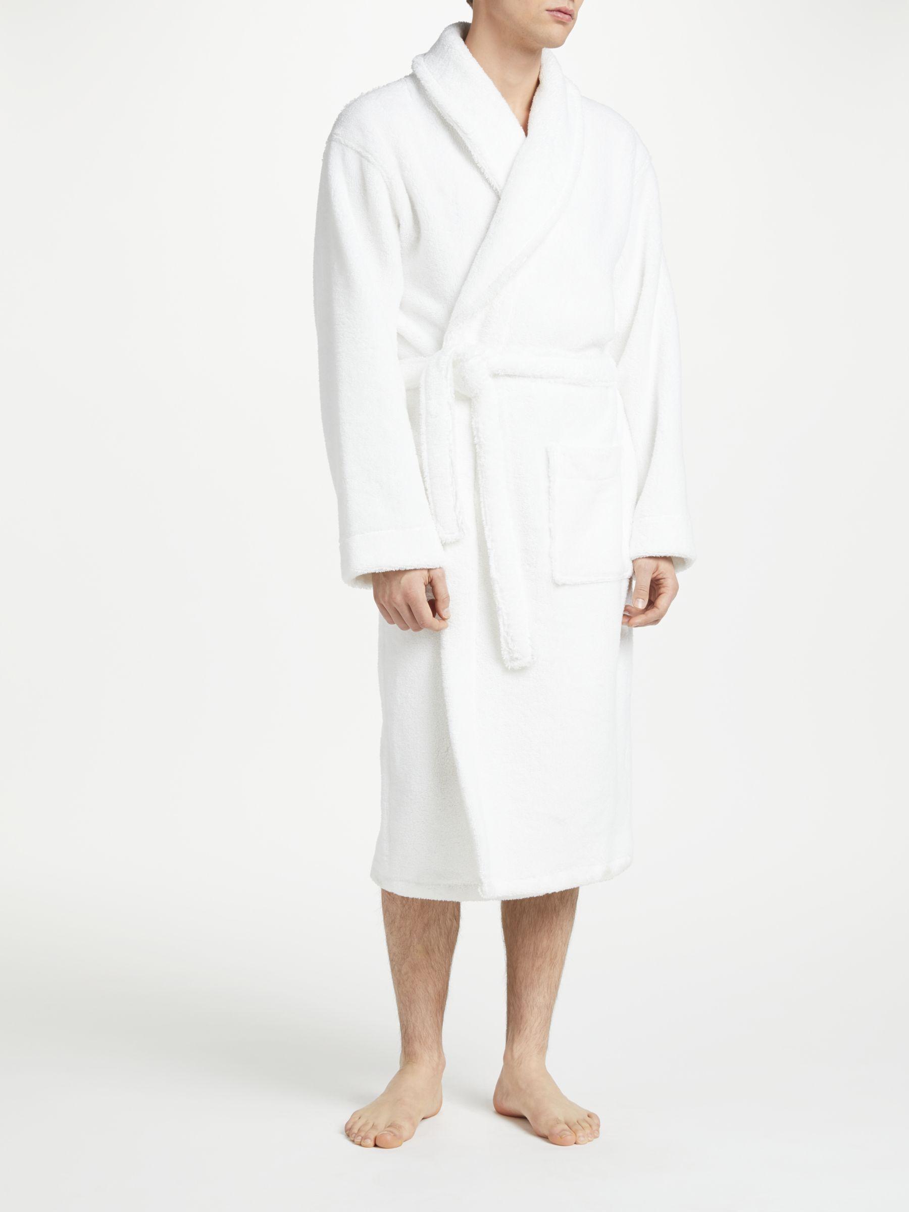 John Lewis Partners Towelling Cotton Robe White At John Lewis Partners