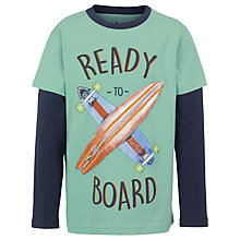 Buy Fat Face Boys' Skateboard Print T-Shirt, Green Online at johnlewis.com