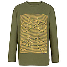 Buy Fat Face Boys' Linear Bicycle T-Shirt, Green Online at johnlewis.com