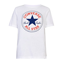 Buy Converse Boys' Core Chuck Patch T-Shirt, White Online at johnlewis.com