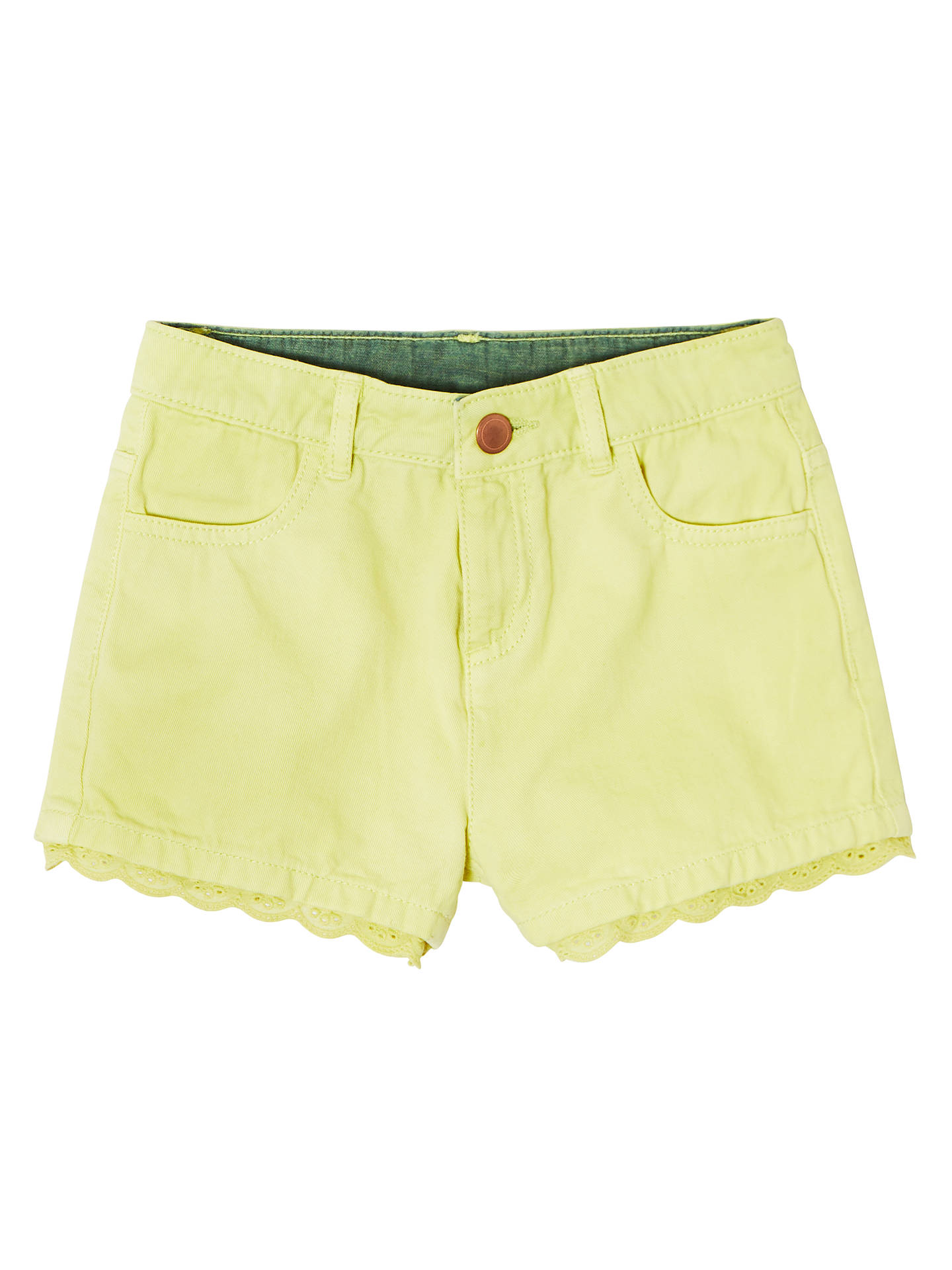 Buy John Lewis & Partners Girls' Twill Shorts, Yellow, 2 years Online at johnlewis.com