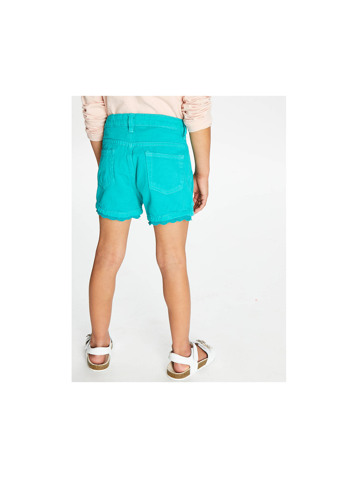 Buy John Lewis & Partners Girls' Twill Shorts, Green, 4 years Online at johnlewis.com
