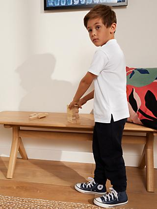John Lewis & Partners The Basics Pure Cotton Polo Shirt, Pack of 3, White
