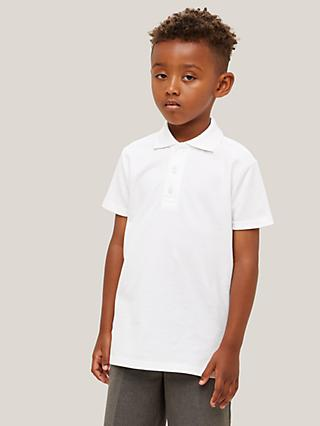 121198e496f John Lewis   Partners Unisex Pure Cotton Easy Care School Polo Shirt