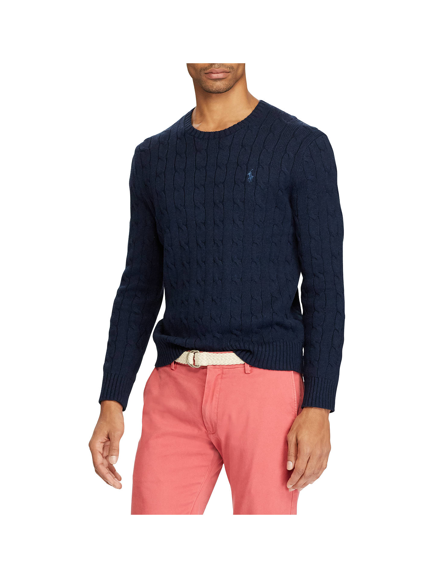 eae2ea25c168 Polo Ralph Lauren Cable-Knit Cotton Jumper at John Lewis   Partners