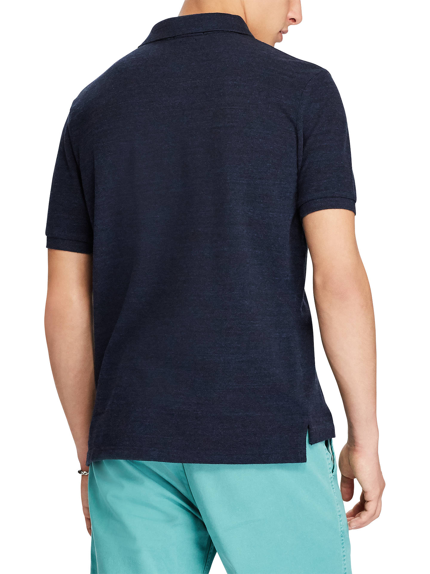 BuyPolo Ralph Lauren Slim Fit Polo Top, Worth Nay Heather, S Online at johnlewis.com