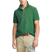 Buy Polo Ralph Lauren Slim Fit Polo Shirt, Verano Green Heather Online at johnlewis.com