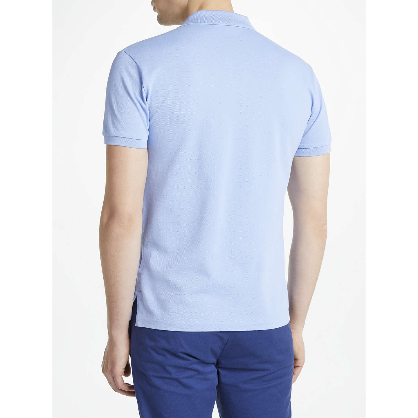 ... BuyPolo Ralph Lauren Slim Fit Stretch Mesh Polo Shirt, Dress Shirt  Blue, S Online ...