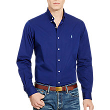 Buy Polo Ralph Lauren Core Fit Shirt, Soho Blue Online at johnlewis.com