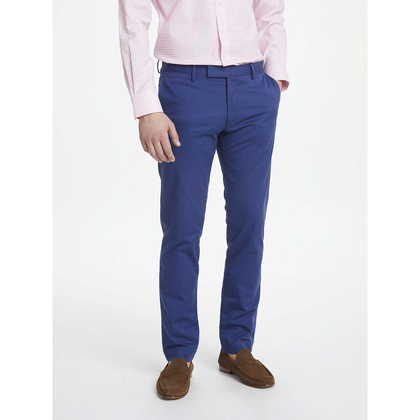 BuyPolo Ralph Lauren Hudson Slim Fit Stretch Cotton Trousers, Freshwater,  32R Online at johnlewis ...