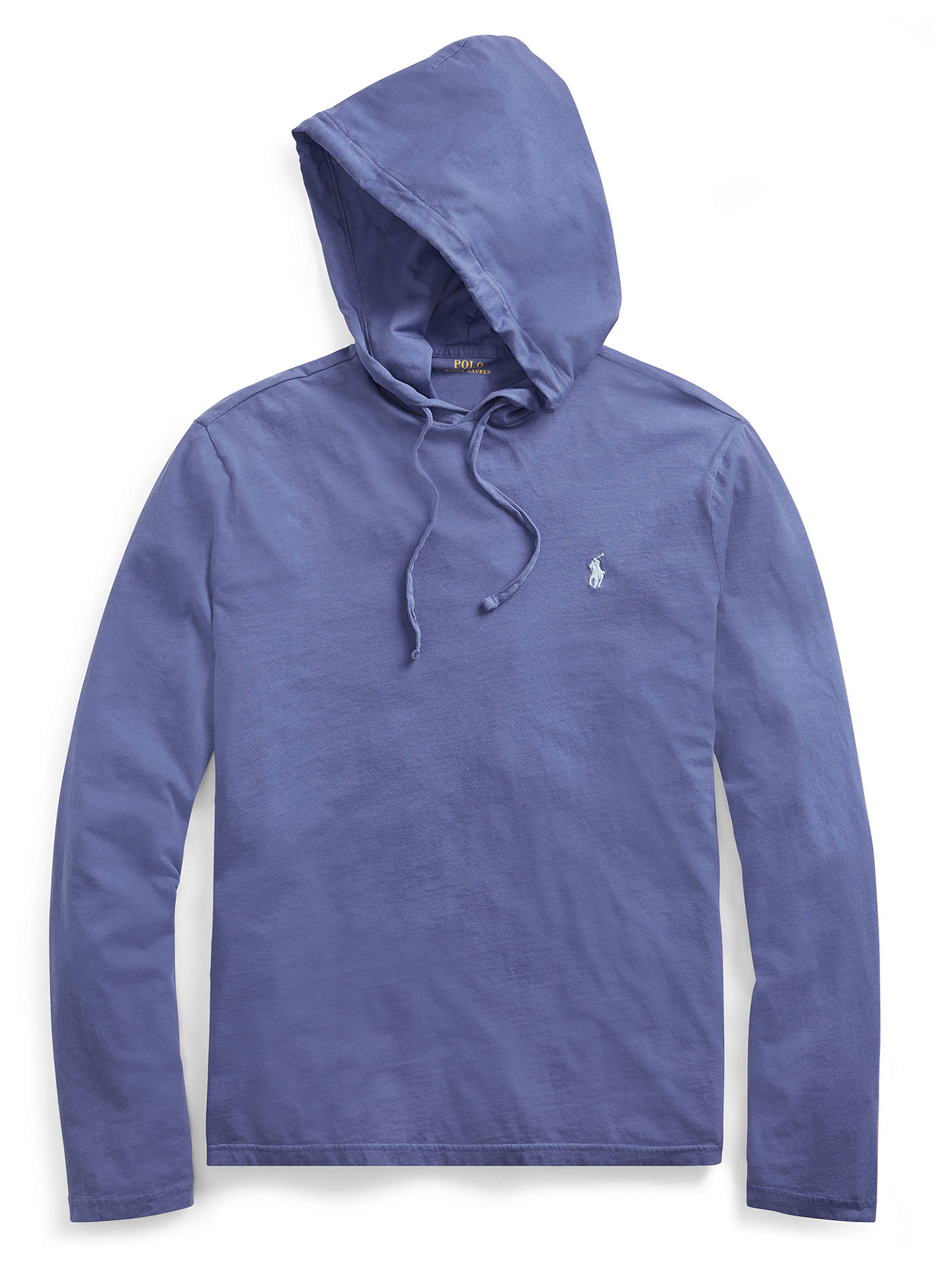 9153e4ea0 ... Buy Polo Ralph Lauren Long Sleeve Hooded T-Shirt, Haven Blue, S Online