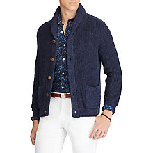 Buy Polo Ralph Lauren Long Sleeve Shawl Cardigan, Blue Marl Online at johnlewis.com