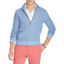 Buy Polo Ralph Lauren Full Zip Long Sleeve Sweatshirt, Jamaica Blue Online at johnlewis.com