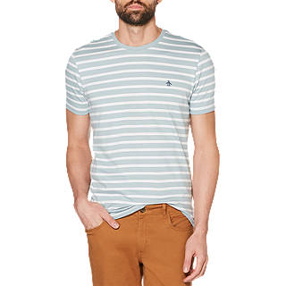 Original Penguin Short Sleeve Crew Neck Stripe T-Shirt, Arona
