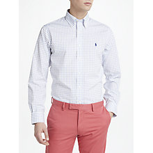 Buy Polo Ralph Lauren Window Pane Shirt, White/Blue Online at johnlewis.com