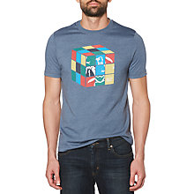 Buy Original Penguin Rubicks Graphic T-Shirt, Vintage Indigo Heather Online at johnlewis.com