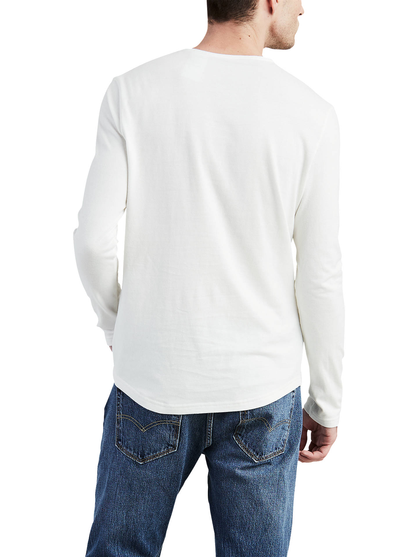 6dfb31b2dc146 ... BuyLevi s Classic Henley Buttoned Long Sleeve T-Shirt, White Smoke, S  Online at