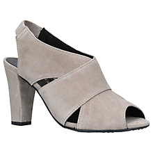 Buy Kurt Geiger Clarence Block Heel Sandals, Taupe Suede Online at johnlewis.com