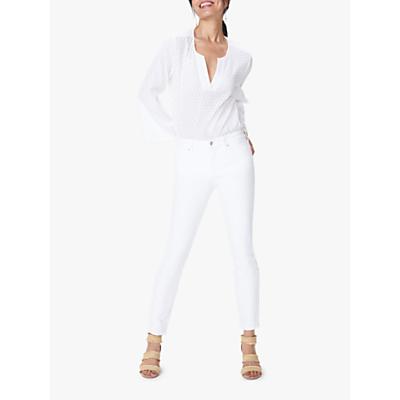 NYDJ Alina Skinny Ankle Jeans, White