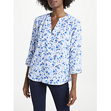 Buy NYDJ Buttercups Afield Print Pin Tuck Blouse, Blue Online at johnlewis.com