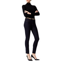 Buy Karen Millen Engineered Skinny Ribbed Jumper, Black Online at johnlewis.com