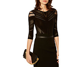 Buy Karen Millen Technical Collection Body, Black Online at johnlewis.com