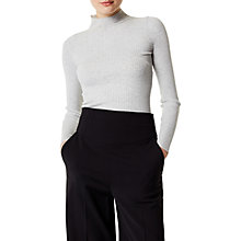 Buy Karen Millen Engineered Skinny Ribbed Jumper, Grey Online at johnlewis.com