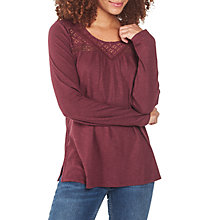 Buy Fat Face Zandra Lace Long Sleeve Top Online at johnlewis.com