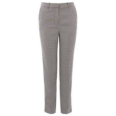 Buy Warehouse Dogstooth Slim Leg Trousers, Black Pattern Online at johnlewis.com