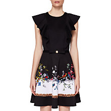 Buy Ted Baker Shaelin Opulent Fauna Ruffle Bow Dress, Black/Multi Online at johnlewis.com