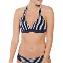 Buy Fat Face Breton Cody Bikini Top, Navy Online at johnlewis.com