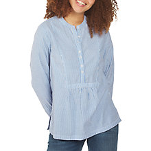 Buy Fat Face Frankie Stripe Popover Shirt, Chambray Online at johnlewis.com