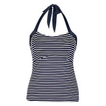 Buy Fat Face Empire Breton Stripe Tankini Top, Navy/Multi Online at johnlewis.com