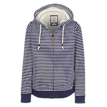 Buy Fat Face Kendal Borg Lined Hoodie, French Navy Online at johnlewis.com