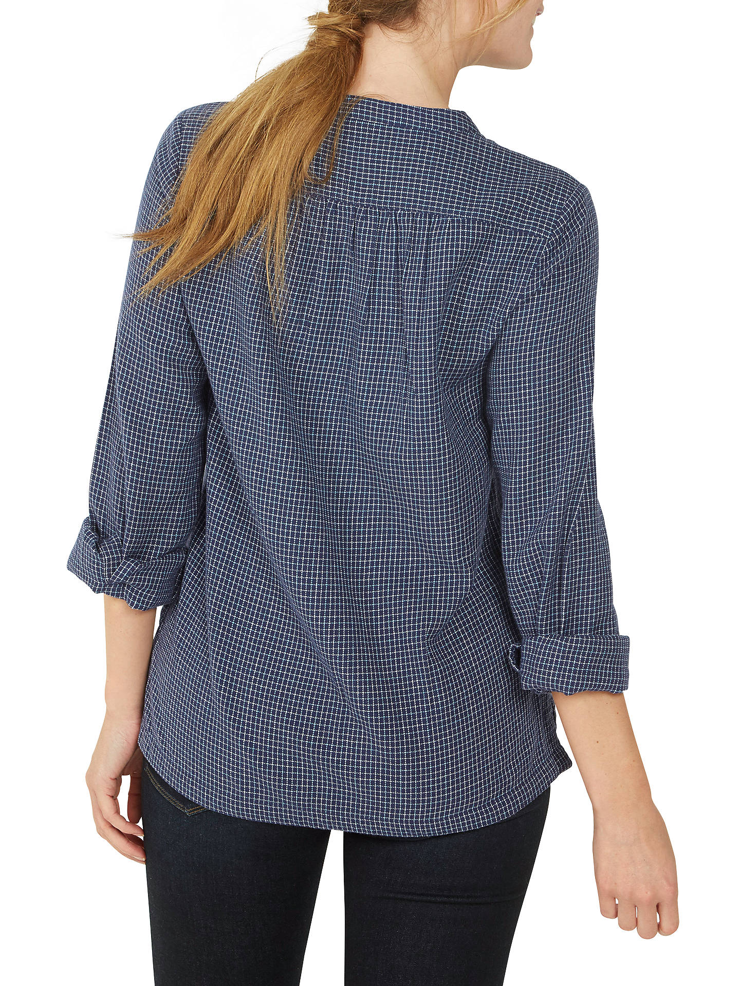 BuyFat Face Frankie Check Popover Shirt, Navy, 6 Online at johnlewis.com