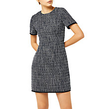 Buy Warehouse Bridget Tweed Dress, Blue Pattern Online at johnlewis.com