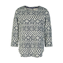 Buy Fat Face Somerton Pattern Top, Navy Online at johnlewis.com