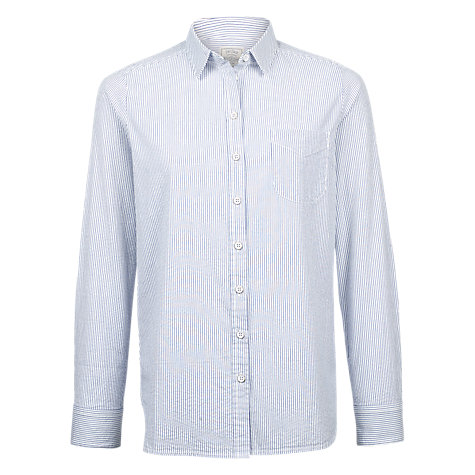 Buy Fat Face Olivia Striped Shirt, Chambray Online at johnlewis.com