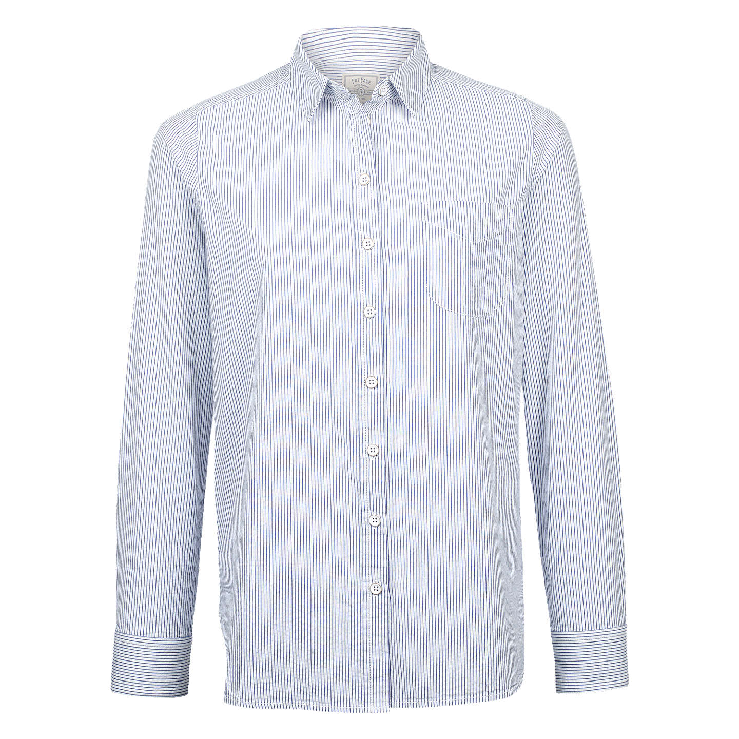 BuyFat Face Olivia Striped Shirt, Chambray, 6 Online at johnlewis.com