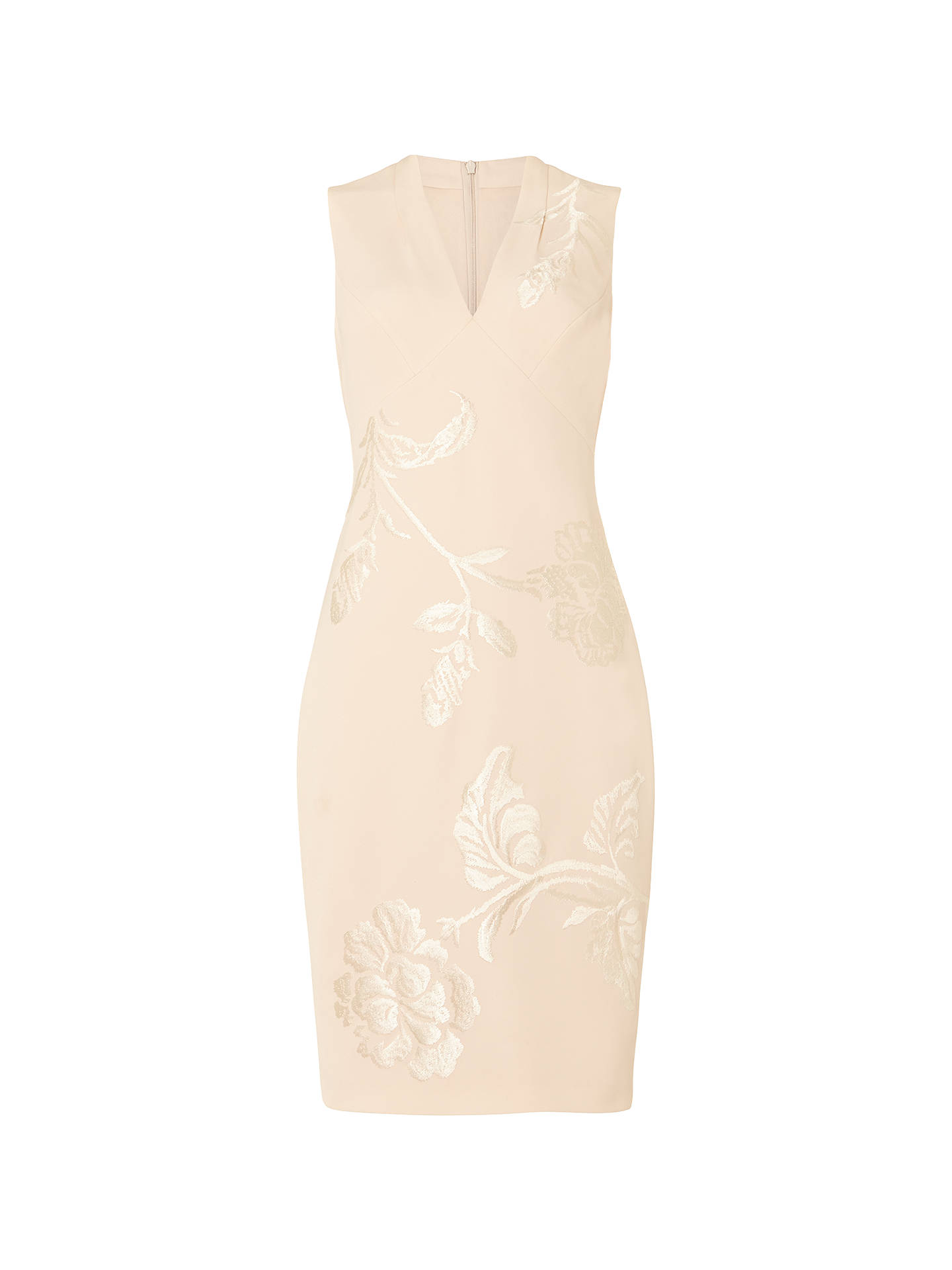 BuyPhase Eight Ruby Embroidered Dress, Cream, 10 Online at johnlewis.com