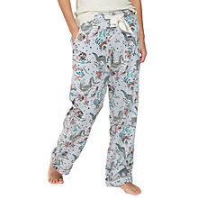 Buy Fat Face Sloth Print Pyjama Bottoms, Multi Online at johnlewis.com