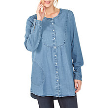 Buy Fat Face Joey Longline Shirt, Chambray Online at johnlewis.com