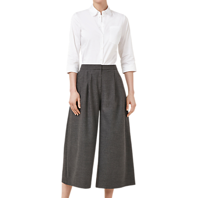 Finery Baker Wide Leg Culottes, Grey